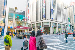 TOKYO ,JAPAN - 2016 Nov 17 : Shinjuku is one of Tokyo's busine. Ss districts with many international corporate headquarters located here. It is also a famous royalty free stock photos