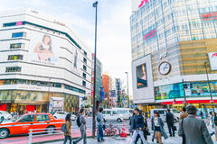 TOKYO ,JAPAN - 2016 Nov 17 : Shinjuku is one of Tokyo's busine. Ss districts with many international corporate headquarters located here. It is also a famous stock images