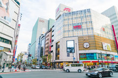 TOKYO ,JAPAN - 2016 Nov 17 : Shinjuku is one of Tokyo's busine. Ss districts with many international corporate headquarters located here. It is also a famous royalty free stock image
