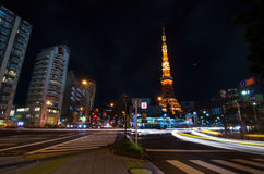 TOKYO, JAPAN - NOVEMBER 28: View Of Busy Street At Night With To
