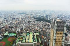 Aerial view for Tokyo metropolis Royalty Free Stock Photography