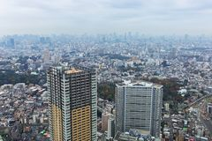Aerial view for Tokyo metropolis Stock Images