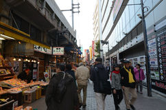 TOKYO, JAPAN - NOVEMBER 22 : Ameyoko market in Ueno District Royalty Free Stock Photos