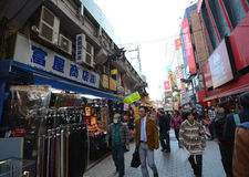TOKYO, JAPAN - NOVEMBER 22 : Ameyoko market in Ueno District Royalty Free Stock Image
