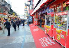 TOKYO, JAPAN - NOVEMBER 22 : Ameyoko market in Ueno District at Royalty Free Stock Images