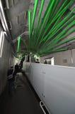 Tokyo, Japan - November 25, 2013: Beeldhouwwerkdecoratie in Sekiguchi-post Stock Fotografie
