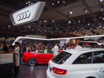 TOKYO, JAPAN - November 23, 2013: Booth at Audi Stock Photos