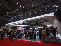 TOKYO, JAPAN - November 23, 2013: Booth at Audi Stock Photo