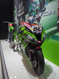 TOKYO, JAPAN - November 23, 2013: Booth at Kawasaki Motorcycles Stock Images