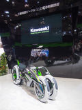 TOKYO, JAPAN - November 23, 2013: Booth at Kawasaki Motorcycles Stock Photography