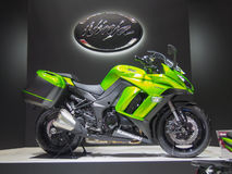 TOKYO, JAPAN - November 23, 2013: Booth at Kawasaki Motorcycles Royalty Free Stock Photos