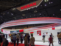 TOKYO, JAPAN - November 23, 2013: Booth at Nissan Motor Royalty Free Stock Photos