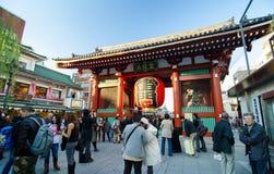 Tokyo, Japan - November 21, 2013: The Buddhist Temple Senso-ji Royalty Free Stock Photo