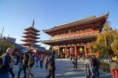 TOKYO, JAPAN - NOVEMBER 21: The Buddhist Temple Senso-ji in Tokyo Stock Photography