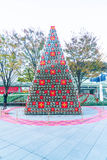 TOKYO, JAPAN - NOVEMBER 18 2016: christmas tree at at Roppongi H Royalty Free Stock Photo