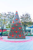 TOKYO, JAPAN - NOVEMBER 18 2016: christmas tree at at Roppongi H Royalty Free Stock Photos