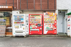 Tokyo, Japan - November 15, 2016: De automatisering van de drankmachine Royalty-vrije Stock Foto's