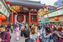 Tokyo, Japan - November 19, 2016 : Front Of Sensoji Temple/Shrine Gate in Asakusa Area in Tokyo , Japan . stock image