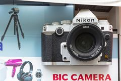 Bic Camera store in Tokyo, Japan. TOKYO, JAPAN - NOVEMBER 14, 2016: Front window of Bic Camera store in Tokyo, Japan. Bic Camera Inc with 41 stores is a consumer Royalty Free Stock Photos