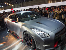TOKYO, JAPAN - November 23, 2013: GT-R at the Booth of Nissan Motor Stock Photo