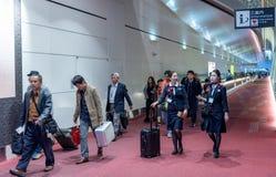 TOKYO, JAPAN - NOVEMBER 9, 2018: Haneda International Airport Terminal Interior stock photos