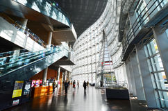 Tokyo Japan - November 23, 2013: Inre av medborgaren Art Center i Tokyo Arkivbilder