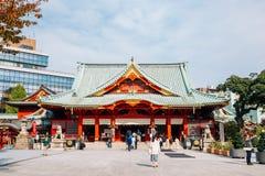 Kanda Shrine traditional architecture in Tokyo, Japan. Tokyo, Japan - November 21, 2018 : Kanda Shrine traditional architecture stock photos