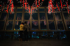 TOKYO, JAPAN - NOVEMBER 25: Lovers in Tokyo Tower in Tokyo, Japa Royalty Free Stock Photography