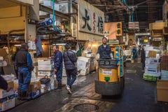 TOKYO, JAPAN - November, 22, 2014: A man driving taretto, motori Royalty Free Stock Photography