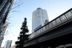 TOKYO, JAPAN - NOVEMBER 23, 2013: Mori Tower in Roppongi-Heuvels Royalty-vrije Stock Fotografie