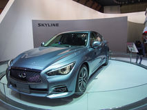 TOKYO, JAPAN - November 23, 2013: New Skyline (Infiniti Q50) at the Booth of Nissan Motor Royalty Free Stock Photos