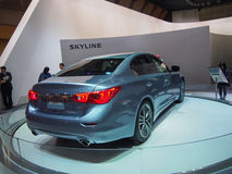 TOKYO, JAPAN - November 23, 2013: New Skyline (Infiniti Q50) at the Booth of Nissan Motor Royalty Free Stock Images