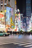 Tokyo, Japan - November 14 , 2017 : The opposite side of this street is Godzilla road famous place in Shinjuku Tokyo Japan ,Godzi stock images