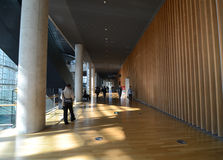 Tokyo, Japan - November 23, 2013 : People visit National Art Center in Tokyo Royalty Free Stock Image