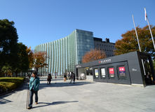 Tokyo, Japan - November 23, 2013: People visit National Art Center in Tokyo Stock Photo