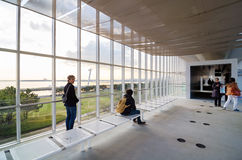 Tokyo, Japan - November 26, 2013: People visit Observation Building in Kasairinkai park Stock Photos
