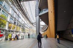 Tokyo, Japan - November 26, 2013: People visit Tokyo International Forum Stock Image