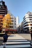 Tokyo, Japan - November 26, 2013: People walking at Shimbashi district Stock Image