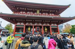 Tokyo, Japan - November 19, 2016 : The Senso-ji Temple in Asakus Royalty Free Stock Image