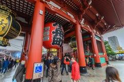 Tokyo, Japan - November 19, 2016 : The Senso-ji Temple in Asakus Royalty Free Stock Photo