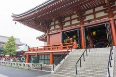 Tokyo, Japan - November 19, 2016 : The Senso-ji Temple in Asakus Royalty Free Stock Images