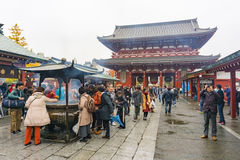 Tokyo, Japan - November 19, 2016 : The Senso-ji Temple and giant Royalty Free Stock Images