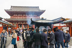 Tokyo, Japan - November 19, 2016 : The Senso-ji Temple and giant Royalty Free Stock Photo
