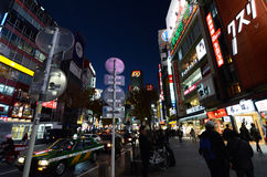TOKYO, JAPAN - NOVEMBER 28: Shibuya is known as a youth fashion Stock Image