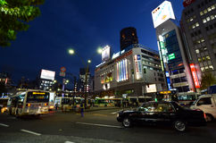 TOKYO, JAPAN - NOVEMBER 28: Shibuya is known as a youth fashion Royalty Free Stock Photo