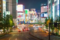 Tokyo, Japan - 18. November 2016: Tokyo Shinjuku ist eins von Tokyos BU Stockfotografie