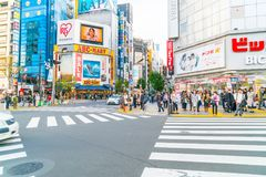 TOKYO, JAPAN - 2016 am 17. November: Shinjuku ist eins von Tokyos busine Stockfoto