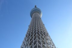 Skytree. TOKYO, JAPAN - NOVEMBER 30, 2016: Skytree tower in Tokyo, Japan. The 634m tall broadcasting tower is the 2nd tallest structure in the world Royalty Free Stock Images