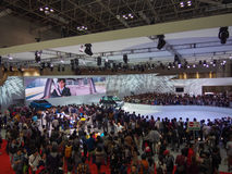 TOKYO, JAPAN - 23. November 2013: Stand an Toyota-Motor Stockfotos