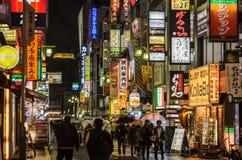 Tokyo, Japan - November 21, 2016 :Street view of night Kabukicho Royalty Free Stock Photography
